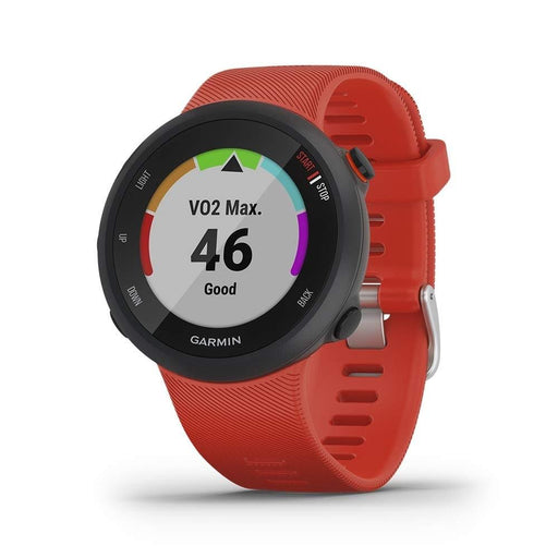 Garmin Forerunner 45s Unisex Red Silicone Band Black Dial Smart Watch - 010-02156-06 - WatchCo.com