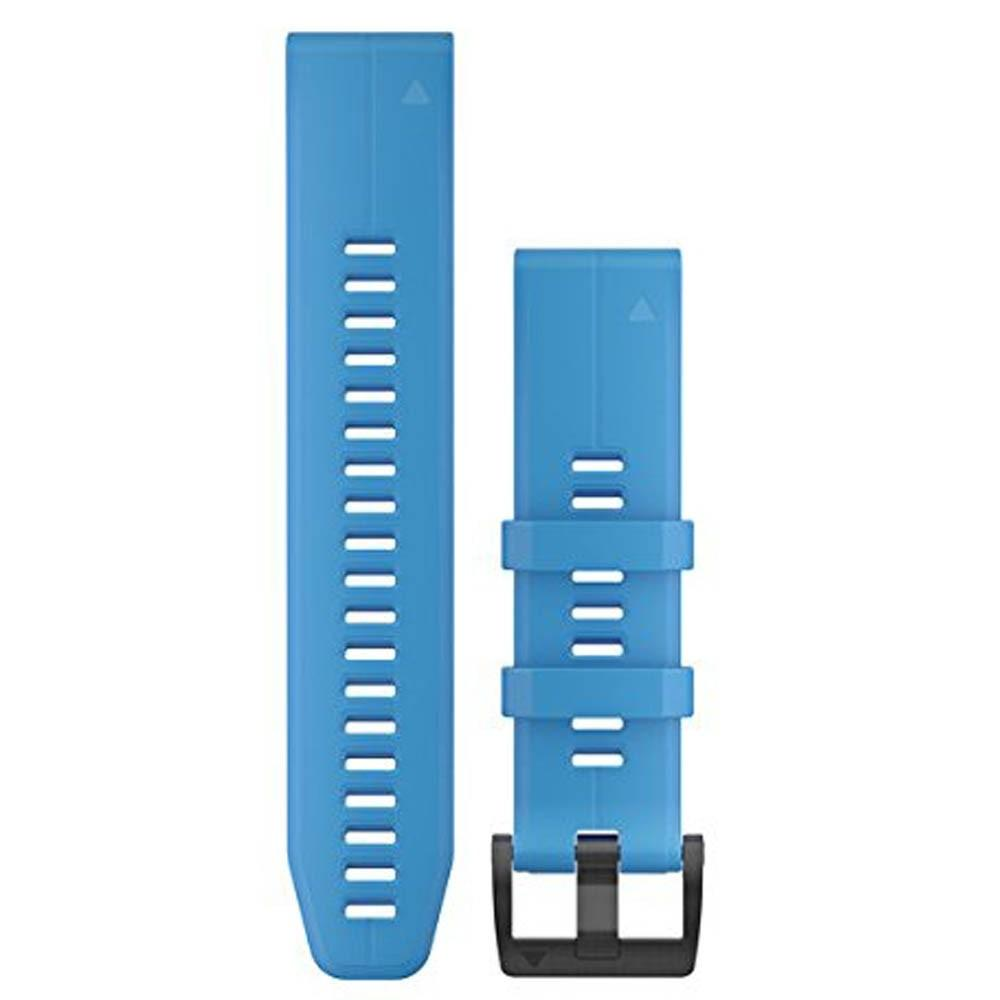 Garmin QuickFit 22 Unisex Cyen Blue Silicone Watch Band - 010-12740-03