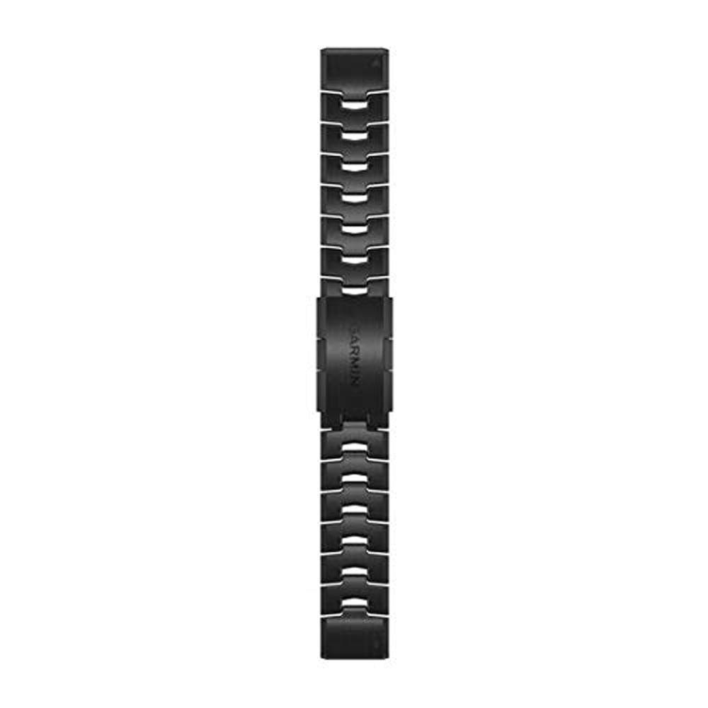Garmin Quick Fit Unisex Vented Carbon Gray Titanium Bracelet 22mm Watch Band - 010-12863-09
