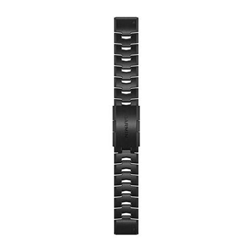 Garmin Quick Fit Unisex Vented Carbon Gray Titanium Bracelet 22mm Watch Band - 010-12863-09 - WatchCo.com