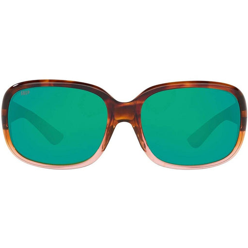 Costa Del Mar Womens Gannet Shiny Tortoise Fade Frame Green Mirror Polarized 580P Lens Sunglasses - GNT120OGMP - WatchCo.com
