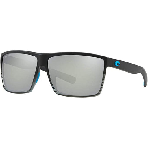 Costa Del Mar Mens Rincon Matte Smoke Crystal Fade Frame Gray Silver Mirror Polarized Lens Sunglasses - RIN179OSCGGLP - WatchCo.com