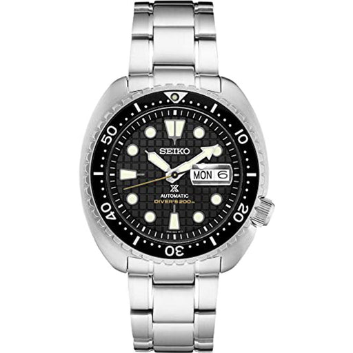 Seiko Mens Prospex Divers King Turtle Stainless Steel Bracelet Black Dial Automatic  Watch - SRPE03 - WatchCo.com