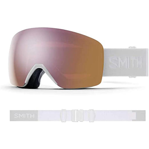 Smith Womens Skyline White Vapor Frame Rose Gold Mirror Chromapop Lens Snow Goggle - M0068133F99M5 - WatchCo.com