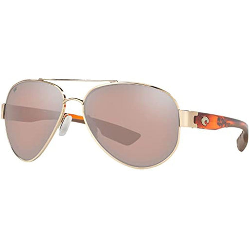 Costa Del Mar Mens South Point Rose Gold Frame Copper Silver Mirror Polarized Lens Sunglasses - SO84OSCGLP - WatchCo.com