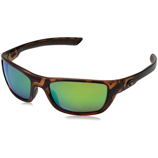 Costa Del Mar Mens Whitetip Tortoise Frame Green Mirror Polarized Lens Wrap Sunglasses - WTP66OGMP - WatchCo.com