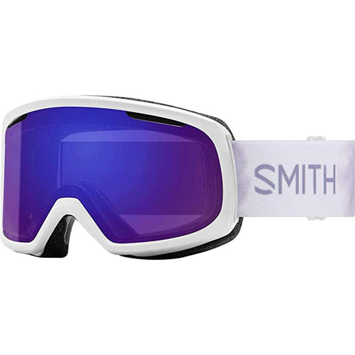 Smith Womens Riot White Florals Frame Violet Mirror Chromapop Lens Snow Goggle - M006723369941 - WatchCo.com
