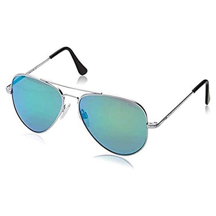 Randolph Mens Concorde Spectrum Matte Chrome Skull Green Sunglasses - CR175