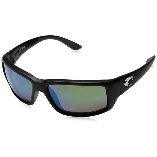 Costa Del Mar Mens Fantail Matte Black Frame Green Mirror Polarized Lens Sunglasses - TF11OGMGLP - WatchCo.com