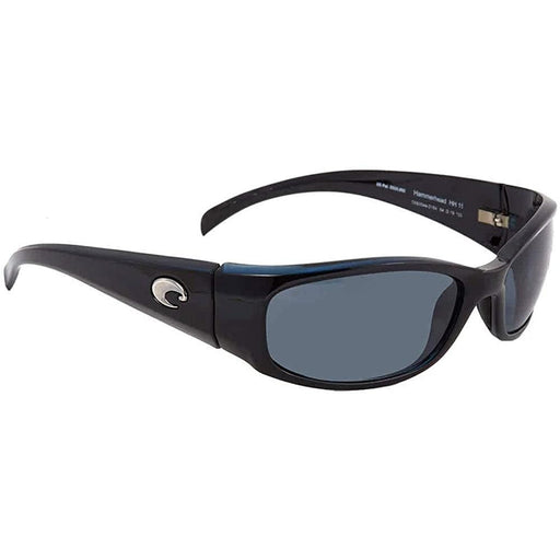 Costa Del Mar Mens Hammerhead Shiny Black Frame Gray Polarized Lens Sunglasses - HH11OGP - WatchCo.com