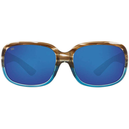Costa Del Mar Womens Gannet Shiny Wahoo Frame Blue Mirror Polarized Sunglasses - GNT251OBMGLP - WatchCo.com