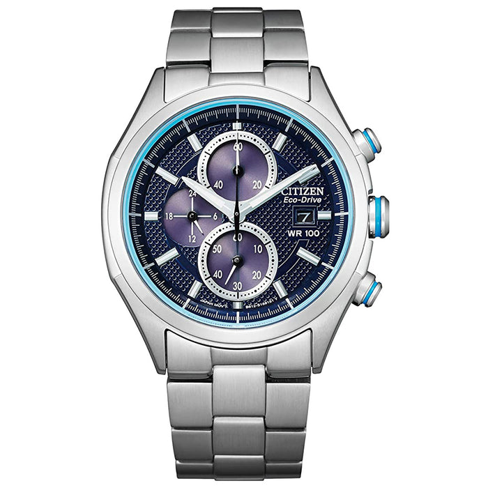 Citizen Mens Quartz Stainless Steel Strap Blue Dial 22 Casual Watch - CA0430-54M