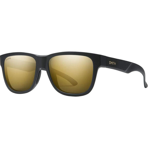 Smith Lowdown Slim 2 Unisex Matte Black Gold Frame Black Gold Lens Square Sunglasses - 2010440NZ51HN - WatchCo.com
