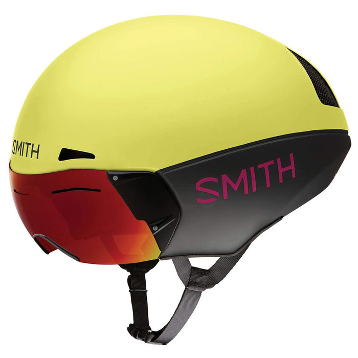 Smith Unisex Matte Citron/Peony Optics Podium TT Cycling Helmet - E007163755962