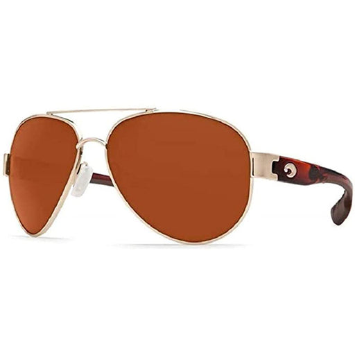 Costa Del Mar Mens South Point Rose Gold Frame Copper Polarized Lens Sunglasses - SO84OCP - WatchCo.com