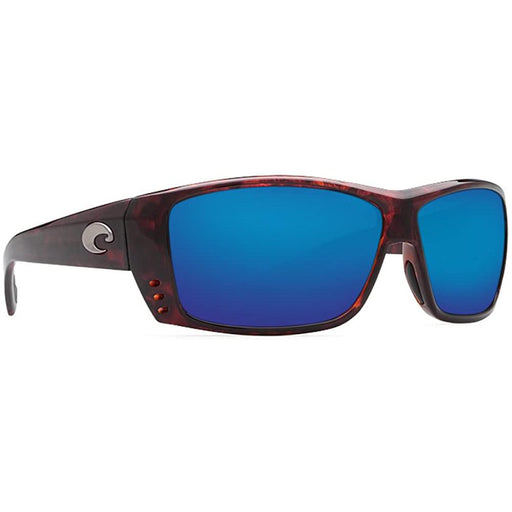 Costa Del Mar Mens Cat Cay Tortoise Frame Blue Mirror Polarized 580G Lens Sunglasses - AT10OBMGLP - WatchCo.com