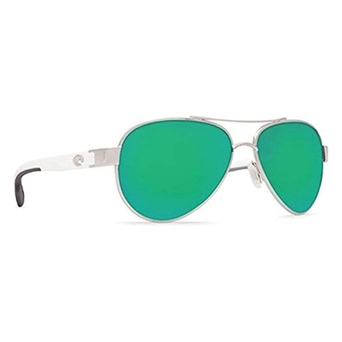 Costa Del Mar Womens Loreto Aviator Palladium Frame Copper Green Mirror Polarized 580p Lens Sunglasses - LR21OGMP