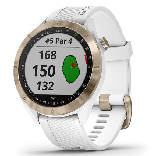 Garmin Approach S40 GPS Unisex White Silicone Band Digital Dial Golf Smartwatch - 010-02140-02 - WatchCo.com