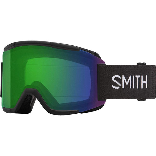 Smith Mens Squad Black Frame Green Mirror Chromapop Lens Snow Goggle - M006682QJ99XP - WatchCo.com