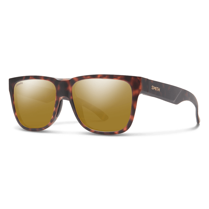 Smith Unisex Lowdown 2 Matte Tortoise Frame ChromaPop Polarized Bronze Mirror Lens Sunglasses - 200941N9P56QE - WatchCo.com