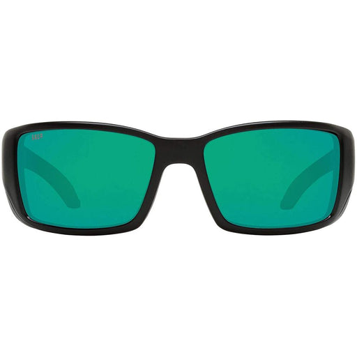 Costa Del Mar Mens Blackfin Matte Black Frame Green Mirror 580p Polarized Sunglasses - BL11OGMP - WatchCo.com