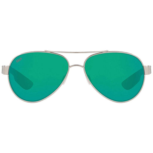 Costa Del Mar Womens Loreto Silver Frame Copper Green Mirror Polarized Lens Aviator Sunglasses - LR278OCOGMP - WatchCo.com
