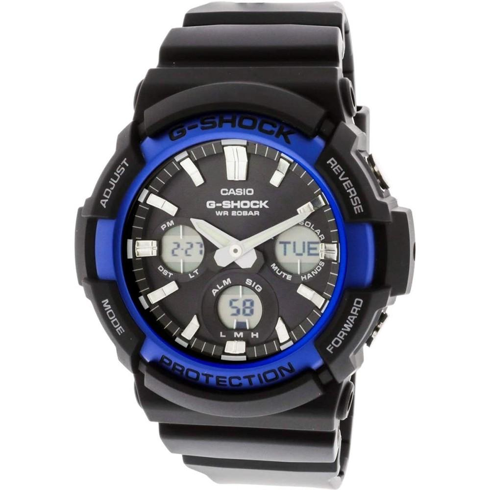 Casio Men's G-Shock Black Resin Band Standard Analog-Digital Dial Tough Solar Watch - GAS-100B-1A2CR