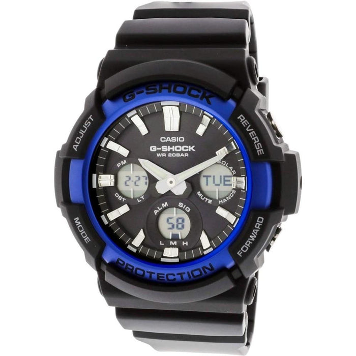 Casio Men's G-Shock Black Resin Band Standard Analog-Digital Dial Tough Solar Watch - GAS-100B-1A2CR - WatchCo.com