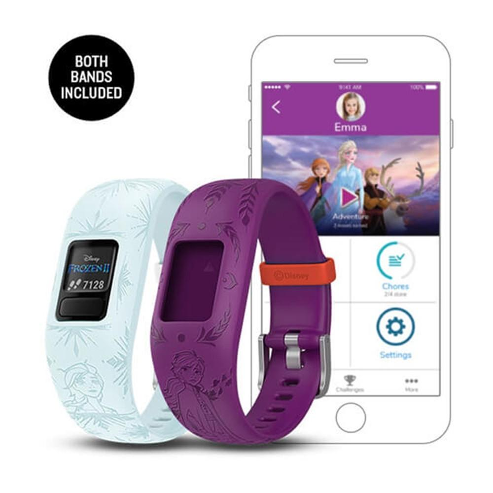 Garmin Vivofit Jr 2 Kids Disney Frozen 2 Anna Elsa Silicone Band Fitness/Activity Tracker Smart Watch - 010-01909-44
