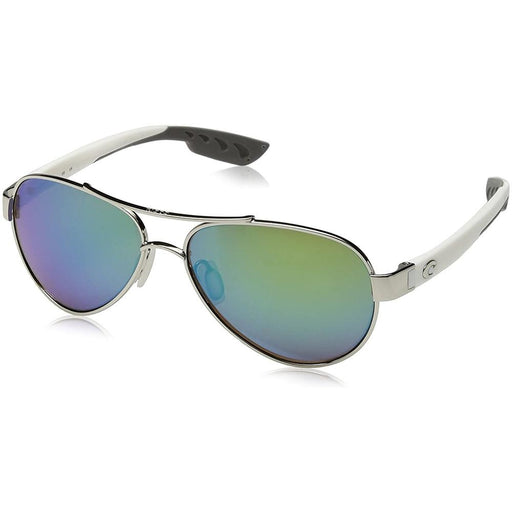 Costa Del Mar Womens Loreto Palladium Frame Copper Green Mirror Polarized Lens Aviator Sunglasses - LR64OBMP - WatchCo.com
