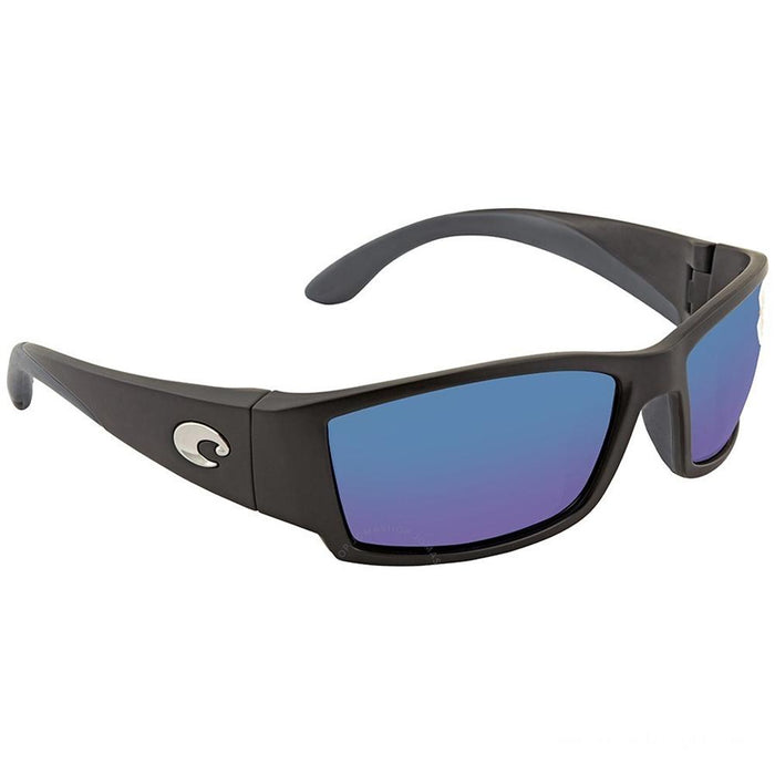 Costa Del Mar Mens Corbina Matte Black Frame Blue Mirror Polarized Lens Sunglasses - CB11OBMP - WatchCo.com
