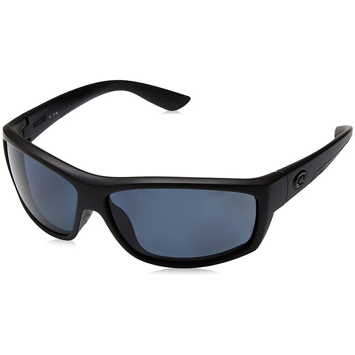 Costa Del Mar Mens Saltbreak Blackout Frame Grey Blue Mirror Polarized-580g Lens Sunglasses - BK01OBMGLP