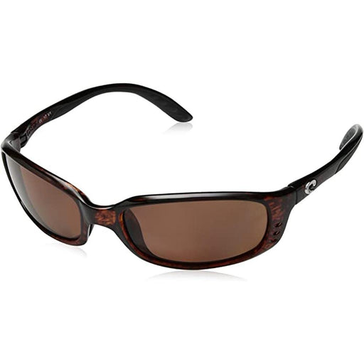 Costa Del Mar Mens Brine Tortoise Frame Copper Polarized Lens Sunglasses - BR10OCP - WatchCo.com