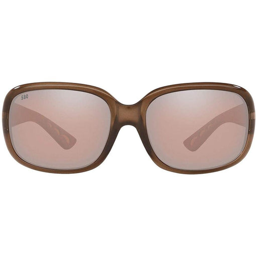 Costa Del Mar Womens Gannet Shiny Taupe Crystal Frame Copper Silver Mirror Polarized 580G Lens Sunglasses - GNT120OGMP - WatchCo.com