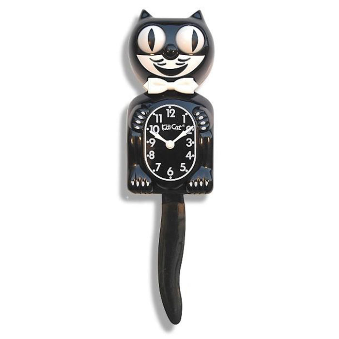 Kit-Cat Classic Wall Black Klock - White Hands - Black Dial - BC-1