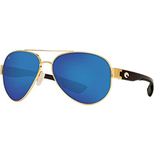 Costa Del Mar Mens South Point Gold Frame Blue Mirror Polarized Lens Sunglasses - SO26OBMGLP - WatchCo.com
