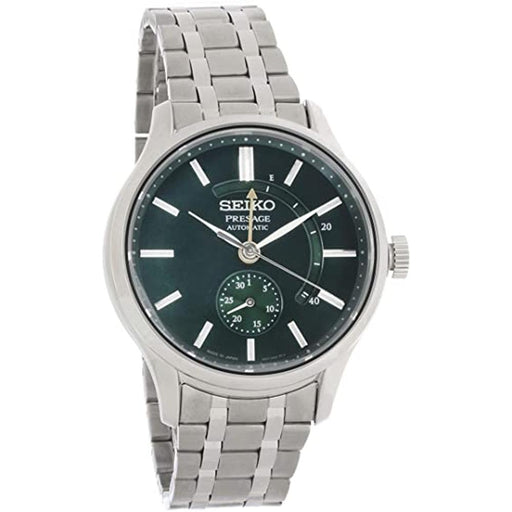 Seiko Mens Presage Cocktail Time Stainless Steel Bracelet Green Dial Automatic Watch - SSA397 - WatchCo.com