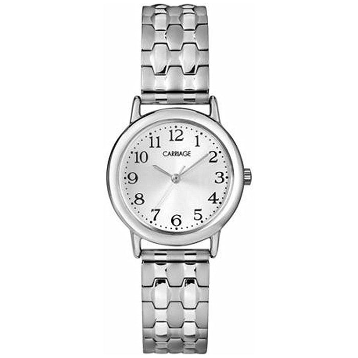 Timex Womens Carriage Silver Dial Tone Expansion Band Watch - C3C744
