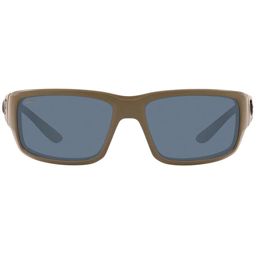 Costa Del Mar Mens Fantail Matte Green Frame Grey 580P Polarized Lens Sunglasses - TF198OGP - WatchCo.com