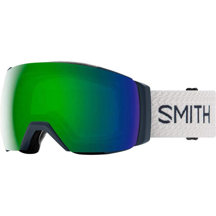 Smith Mens I/O MAG XL French Navy Mod Frame Sun Green Mirror Chromapop Lens Snow Goggle - M007132RB99MK - WatchCo.com