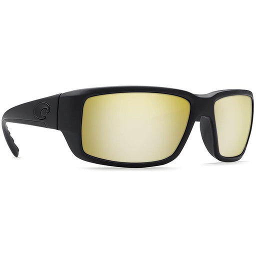 Costa Del Mar Mens Fantail Blackout Frame Polarized Silver Sunrise Mirror 580G Sunglasses - TF01OSSGLP - WatchCo.com