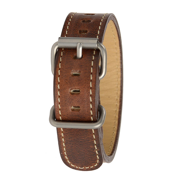 Bertucci Montanaro Survival Horween Men's Nut Brown Leather Watch Band - B-218M