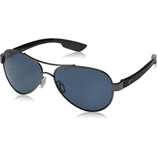 Costa Del Mar Mens Loreto Gunmetal Frame Gray Polarized Lens Sunglasses - LR22OGP - WatchCo.com