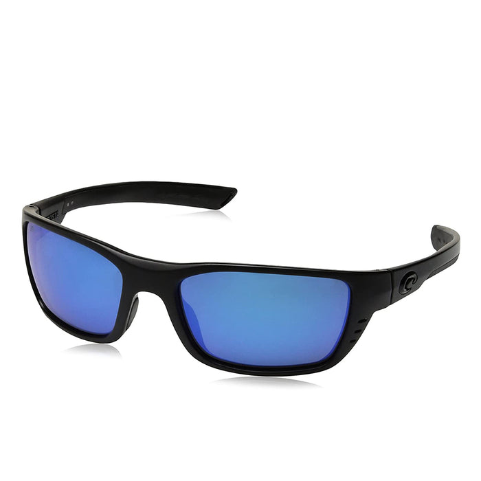 Costa Del Mar Mens Whitetip Blackout Frame Blue Mirror Polarized-580g Sunglasses - WTP01OBMGLP