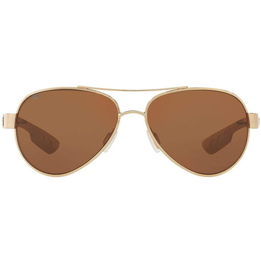 Costa Del Mar Womens Loreto Rose Gold Metal Frame Copper Polarized Lens Aviator Sunglasses - LR64OCGLP - WatchCo.com