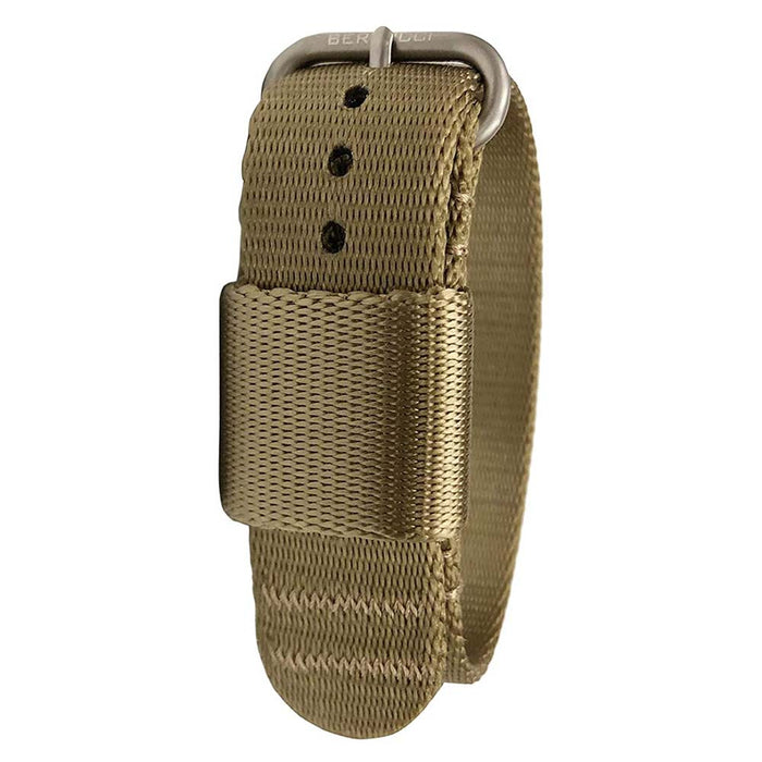 Bertucci Mens G–Type Comfort-Webb Field Khaki Nylon Webbing Strap Matte Stainless Steel Buckle Watch Band - B-272