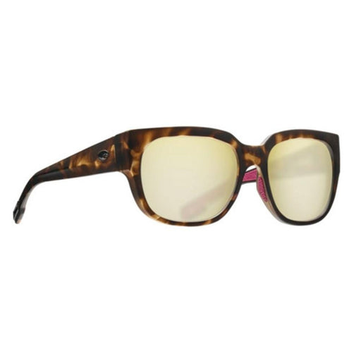 Costa Del Mar Womens Waterwoman Matte Shadow Tortoise Frame Sunrise Silver Mirror Polarized 580G Square Sunglasses - WTW249OSSGLP - WatchCo.com