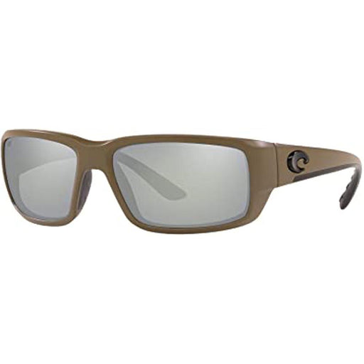 Costa Del Mar Mens Fantail Matte Moss Frame Gray Silver Mirror Polarized Lens Sunglasses - TF198OSCGGLP - WatchCo.com