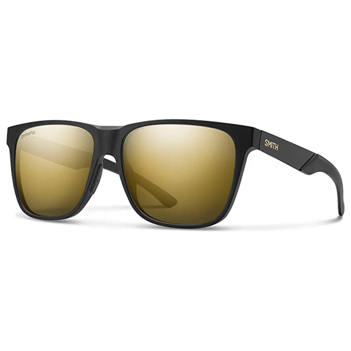 Smith Unisex Matte Black Gold ChromaPop Polarized Black Gold ONE Size Lowdown Steel XL Sunglasses - 2023010NZ59HN
