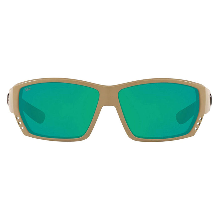 Costa Del Mar Mens Tuna Alley Matte Sand Frame Green Mirror Polarized Lens Sunglasses - TA248OGMGLP